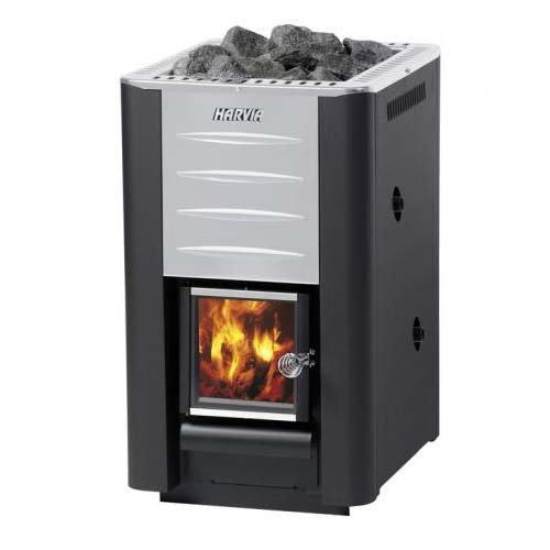 Дровяные печи harvia 20 boiler (дверца со стеклом,бойлер для нагрева воды)