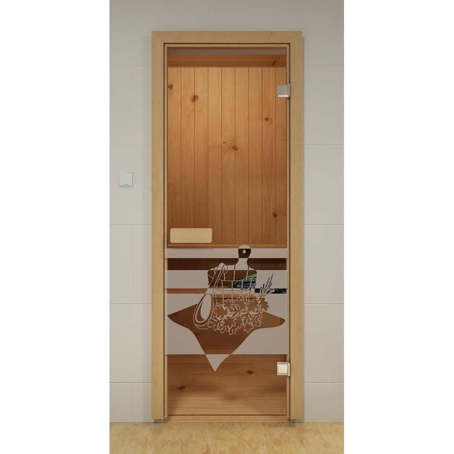 Двери Aldo ДСМ Банный день Прозрач.