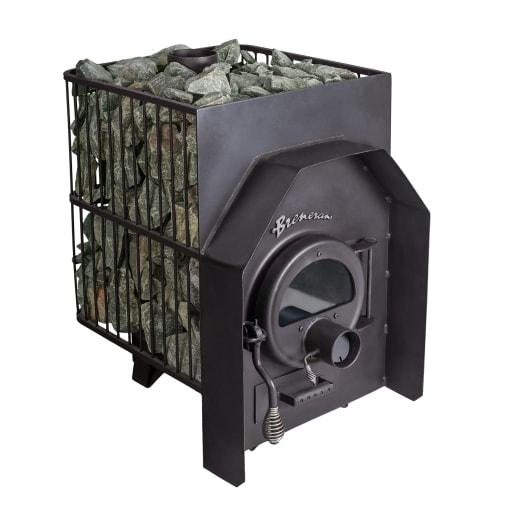 Дровяная печь Бренеран (Булерьян) АОТ-12 25м3 в метал. решётке со стеклом