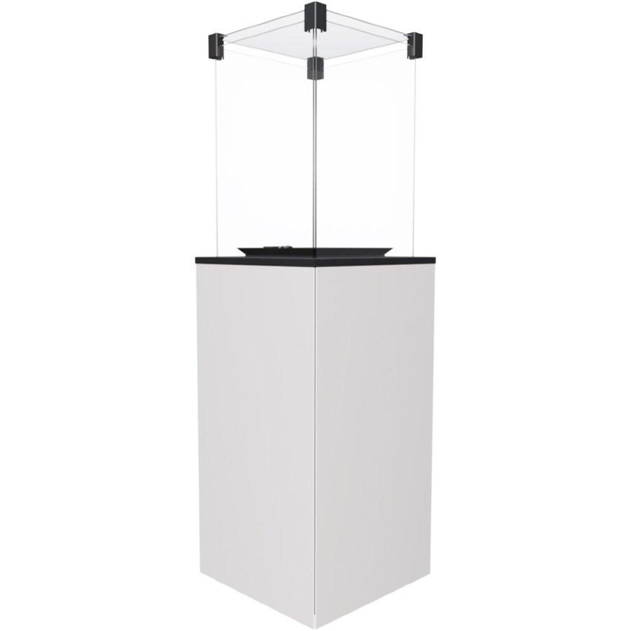Газовый обогреватель Kratki PATIO/M/G31/37MBAR/B (уличный) - белое стекло, с ручным управлением (8,2 кВт)