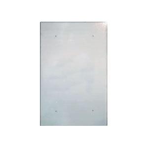Экран из нержавеющей зеркальной стали 980х640 мм