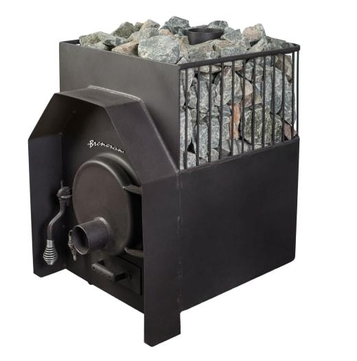 Дровяная печь Бренеран (Булерьян) АОТ-12 25м3 в 1/2 метал. решётке