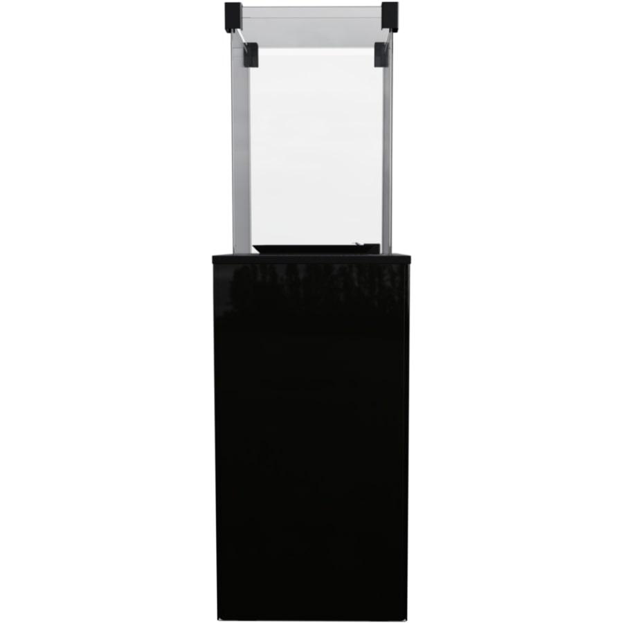 Газовый обогреватель Kratki PATIO/M/G31/37MBAR/CZ (уличный) - черное стекло, с ручным управлением (8,2 кВт)